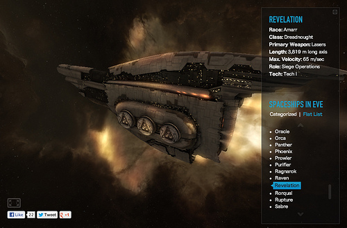 Eve Online Spaceship Viewer